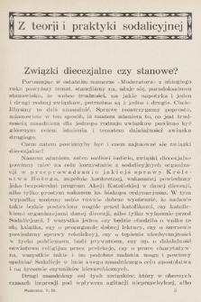 Moderator : dwumiesięcznik przeznaczony wyłącznie dla Księży Kierowników Sodalicyj Marjańskich. R. 5, 1933, T. 3, z. 2