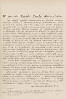 Moderator : dwumiesięcznik przeznaczony wyłącznie dla Księży Kierowników Sodalicyj Marjańskich. R. 5, 1933, T. 3, z. 3
