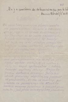 Młodzieńcze prace filozoficzne Hektograficzne odbitki autografów i kopia maszynowa