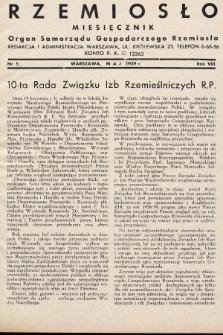 Rzemiosło : organ Samorządu Gospodarczego Rzemiosła. 1938, nr [5]