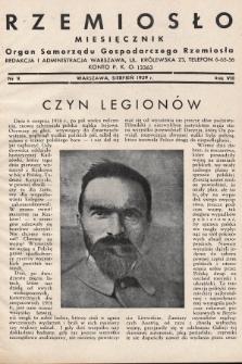 Rzemiosło : organ Samorządu Gospodarczego Rzemiosła. 1939, nr 9