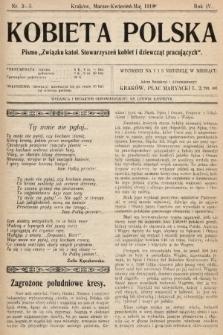 """Kobieta Polska : pismo """"Związku katolickich Stowarzyszeń kobiet i dziewcząt pracujących"""". 1919, nr 3-5"""