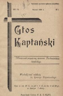 Głos Kapłański : miesięcznik poświęcony sprawom duchowieństwa katolickiego. 1930, nr1