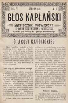 Głos Kapłański : miesięcznik poświęcony sprawom duchowieństwa katolickiego. 1930, nr8