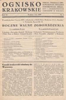 Ognisko Krakowskie : organ Oddziału Krakowskiego Zwiąku Zawodowego. Drukarzy i Pokrewnych Zawodów w Polsce. 1939, nr2