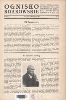 Ognisko Krakowskie : organ Oddziału Krakowskiego Zwiąku Zawodowego. Drukarzy i Pokrewnych Zawodów w Polsce. 1937, nr1