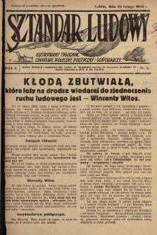 Sztandar Ludowy : ilustrowany tygodnik oświatowy, społeczny, polityczny i gospodarczy. 1925, nr8