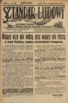 Sztandar Ludowy : ilustrowany tygodnik oświatowy, społeczny, polityczny i gospodarczy. 1925, nr39