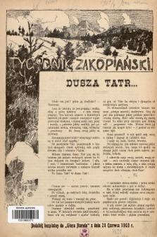"""Tygodnik Zakopiański : dodatek bezpłatny do """"Głosu Narodu"""" z dnia 28 czerwca 1903, [nr 1]"""