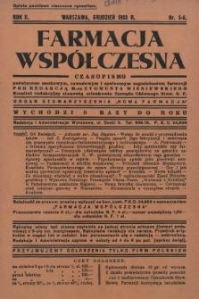 """Farmacja Współczesna : czasopismo poświęcone naukowym, zawodowym i społecznym zagadnieniom farmacji : organ Stowarzyszenia """"Nowa Farmacja"""". 1933, nr5-6"""
