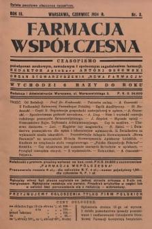 """Farmacja Współczesna : czasopismo poświęcone naukowym, zawodowym i społecznym zagadnieniom farmacji : organ Stowarzyszenia """"Nowa Farmacja"""". 1934, nr3"""