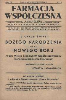 """Farmacja Współczesna : czasopismo poświęcone naukowym, zawodowym i społecznym zagadnieniom farmacji : organ Stowarzyszenia """"Nowa Farmacja"""". 1935, nr6"""