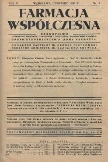 """Farmacja Współczesna : czasopismo poświęcone naukowym, zawodowym i społecznym zagadnieniom farmacji : organ Stowarzyszenia """"Nowa Farmacja"""". 1936, nr3"""