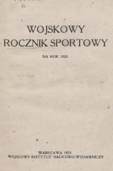 Wojskowy Rocznik Sportowy na Rok 1923