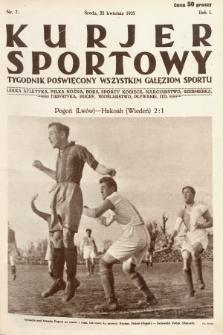 Kurjer Sportowy : tygodnik poświęcony wszystkim gałęziom sportu. 1925, nr7
