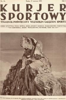 Kurjer Sportowy : tygodnik poświęcony wszystkim gałęziom sportu. 1925, nr15