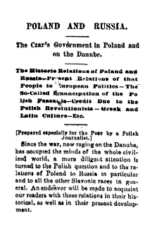 Poland and Russia : the Czar's government in Poland on the Danube