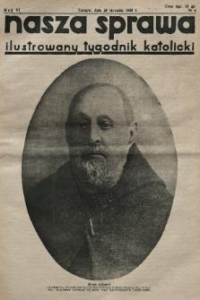 Nasza Sprawa : ilustrowany tygodnik katolicki. 1938, nr4
