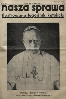 Nasza Sprawa : ilustrowany tygodnik katolicki. 1938, nr7
