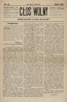 Głos Wolny : tygodnik polityczny, społeczny iliteracki : organ niezawisły. 1880, nr2