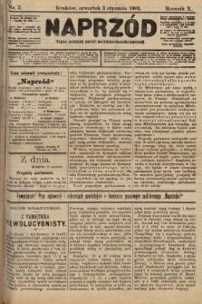Naprzód : organ polskiej partyi socyalno-demokratycznej. 1901, nr 3 [po konfiskacie nakład drugi]