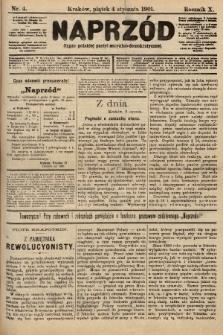 Naprzód : organ polskiej partyi socyalno-demokratycznej. 1901, nr4