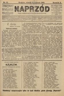 Naprzód : organ polskiej partyi socyalno-demokratycznej. 1901, nr15