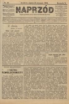 Naprzód : organ polskiej partyi socyalno-demokratycznej. 1901, nr18 [po konfiskacie nakład drugi]