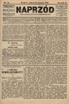 Naprzód : organ polskiej partyi socyalno-demokratycznej. 1901, nr19