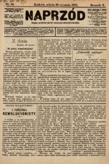 Naprzód : organ polskiej partyi socyalno-demokratycznej. 1901, nr26 [nakład pierwszy skonfiskowany]