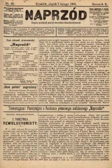 Naprzód : organ polskiej partyi socyalno-demokratycznej. 1901, nr32 [nakład pierwszy skonfiskowany]
