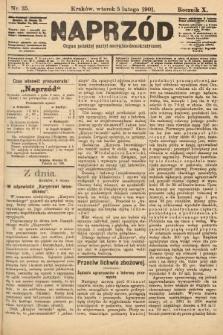 Naprzód : organ polskiej partyi socyalno-demokratycznej. 1901, nr35 [po konfiskacie nakład drugi]
