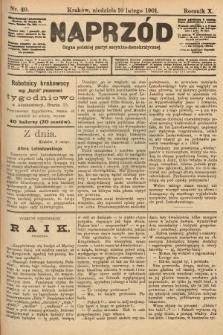 Naprzód : organ polskiej partyi socyalno-demokratycznej. 1901, nr40