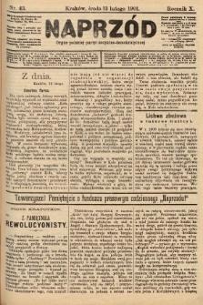 Naprzód : organ polskiej partyi socyalno-demokratycznej. 1901, nr43