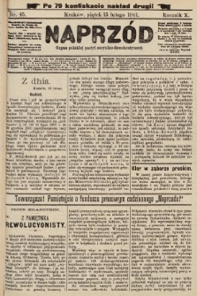 Naprzód : organ polskiej partyi socyalno-demokratycznej. 1901, nr45 (po konfiskacie nakład drugi!)