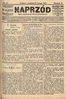 Naprzód : organ polskiej partyi socyalno-demokratycznej. 1901, nr47