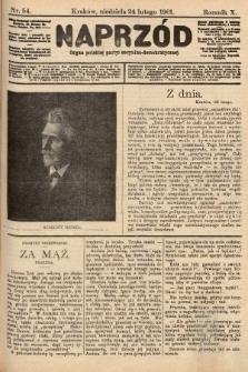 Naprzód : organ polskiej partyi socyalno-demokratycznej. 1901, nr54