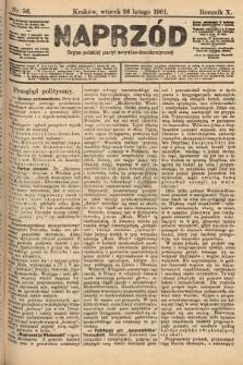 Naprzód : organ polskiej partyi socyalno-demokratycznej. 1901, nr56