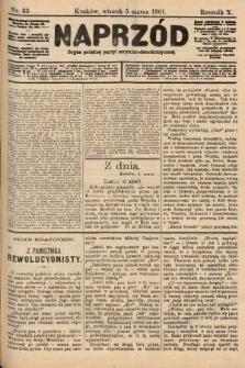 Naprzód : organ polskiej partyi socyalno-demokratycznej. 1901, nr63