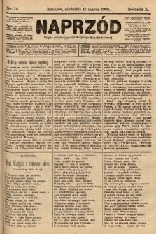 Naprzód : organ polskiej partyi socyalno-demokratycznej. 1901, nr75