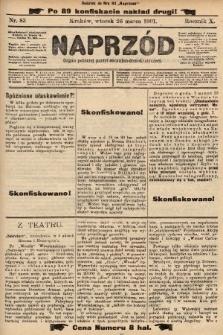 Naprzód : organ polskiej partyi socyalno-demokratycznej. 1901, nr83 (po konfiskacie nakład drugi!)