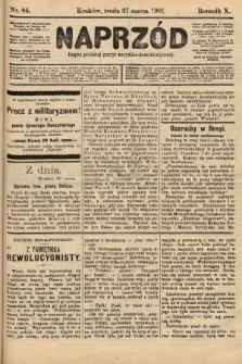 Naprzód : organ polskiej partyi socyalno-demokratycznej. 1901, nr84