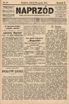 Naprzód : organ polskiej partyi socyalno-demokratycznej. 1901, nr87