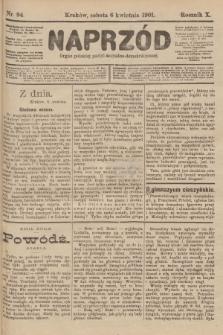 Naprzód : organ polskiej partyi socyalno-demokratycznej. 1901, nr94