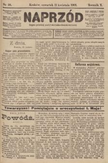 Naprzód : organ polskiej partyi socyalno-demokratycznej. 1901, nr98
