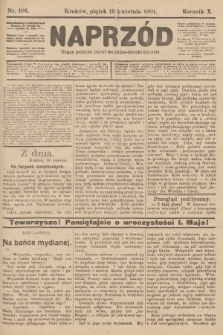 Naprzód : organ polskiej partyi socyalno-demokratycznej. 1901, nr106