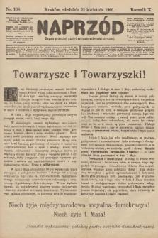 Naprzód : organ polskiej partyi socyalno-demokratycznej. 1901, nr108