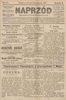 Naprzód : organ polskiej partyi socyalno-demokratycznej. 1901, nr117