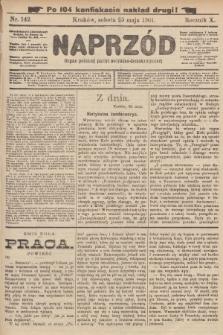 Naprzód : organ polskiej partyi socyalno-demokratycznej. 1901, nr142 (po konfiskacie nakład drugi!)
