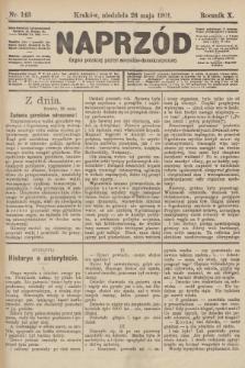 Naprzód : organ polskiej partyi socyalno-demokratycznej. 1901, nr143